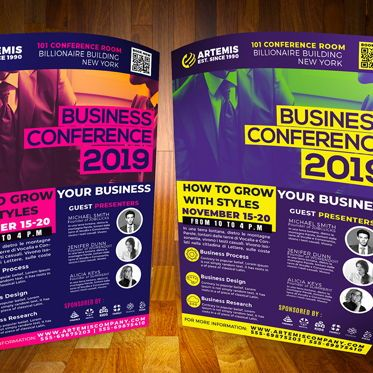 Business: Business Conference Flyer Template #08516