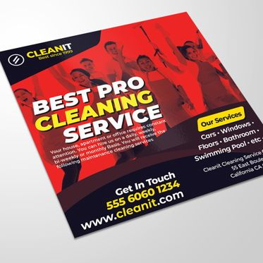 Business: Cleaning Service Flyer #08518