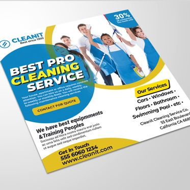 Business: Cleaning Service Flyer #08519