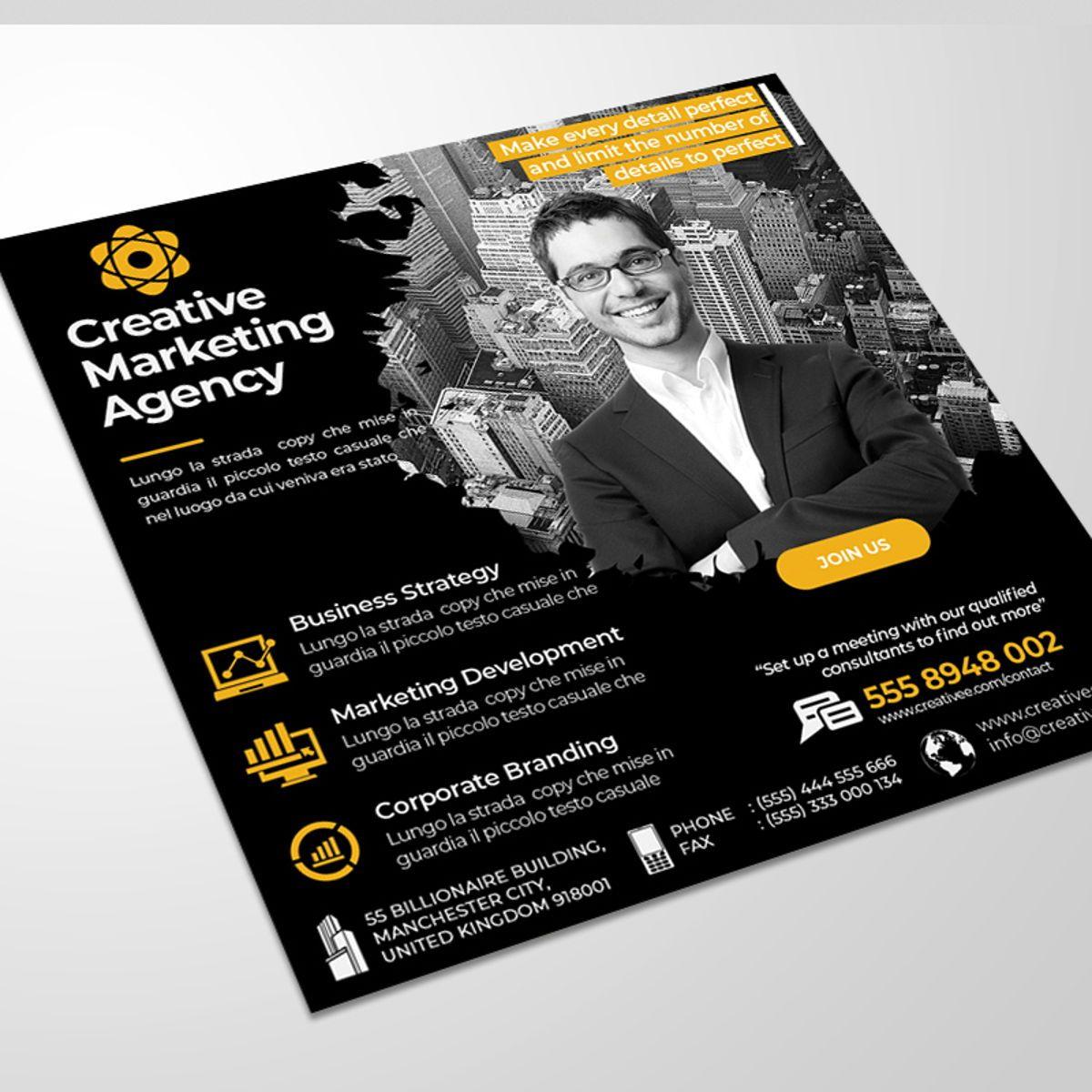 Creative Agency Flyer Template, Diapositive 2, 08521, Business — PoweredTemplate.com