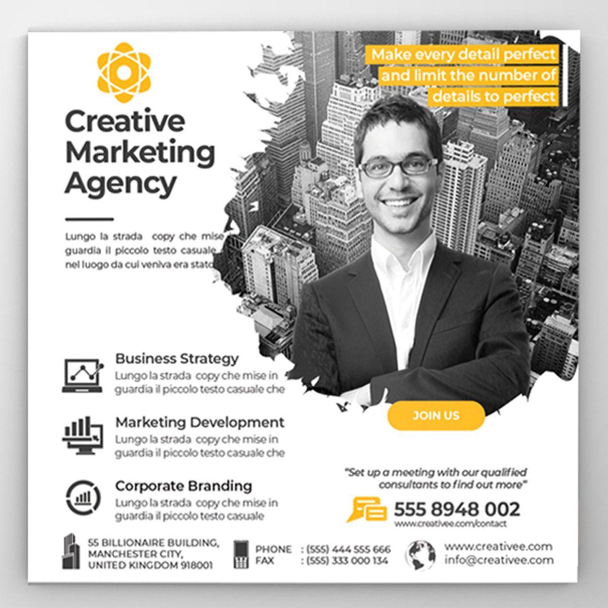 Creative Agency Flyer Template, Diapositive 3, 08521, Business — PoweredTemplate.com