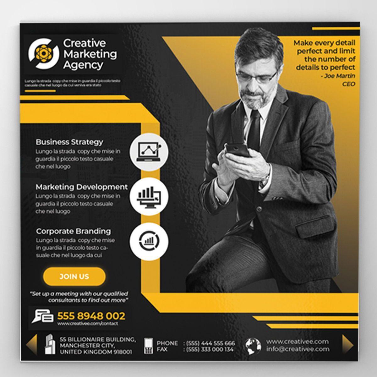 Creative Agency Flyer Template, 08522, Business — PoweredTemplate.com