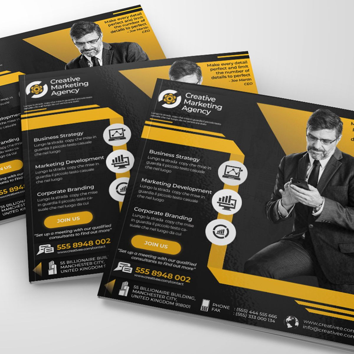 Creative Agency Flyer Template, Diapositive 3, 08522, Business — PoweredTemplate.com