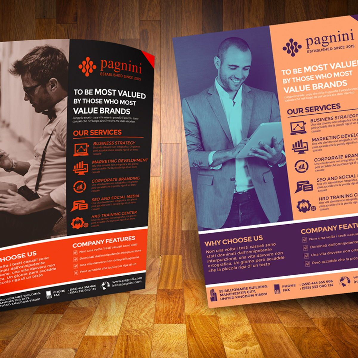 Creative Corporate Flyer Template, 08523, Business — PoweredTemplate.com