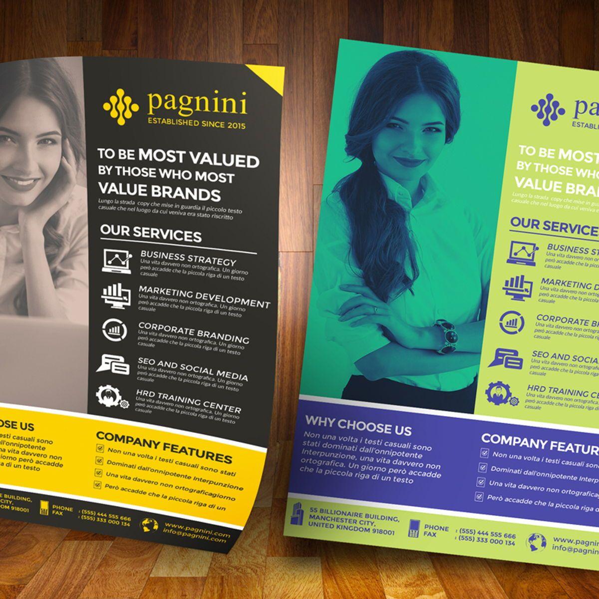 Creative Corporate Flyer Template, Diapositive 2, 08523, Business — PoweredTemplate.com