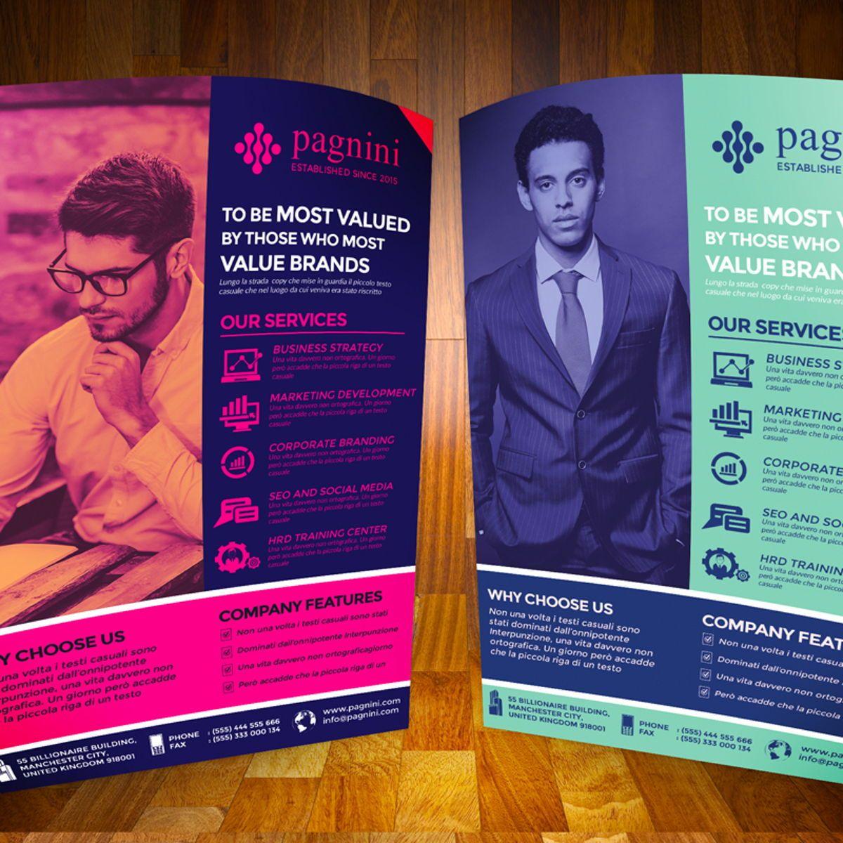 Creative Corporate Flyer Template, Diapositive 3, 08523, Business — PoweredTemplate.com