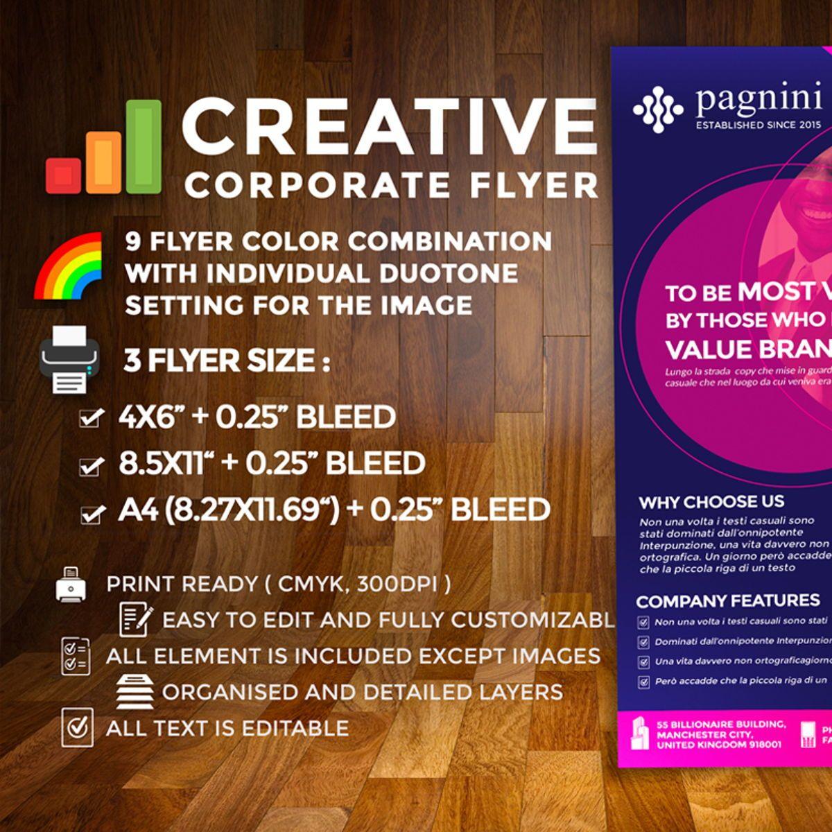 Creative Corporate Flyer, 08524, Business — PoweredTemplate.com
