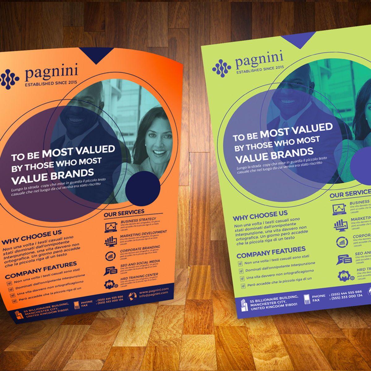 Creative Corporate Flyer, Diapositive 2, 08524, Business — PoweredTemplate.com