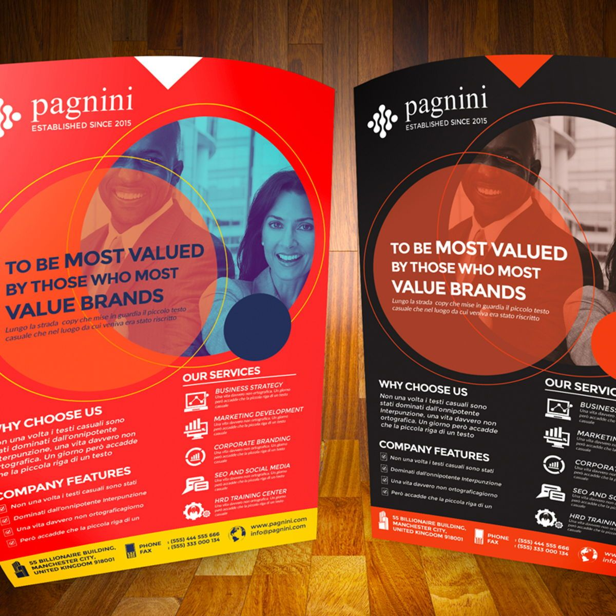 Creative Corporate Flyer, Diapositive 4, 08524, Business — PoweredTemplate.com