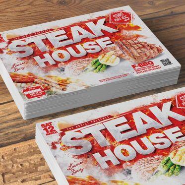 Food & Beverage: Steak House Flyer Template #08525