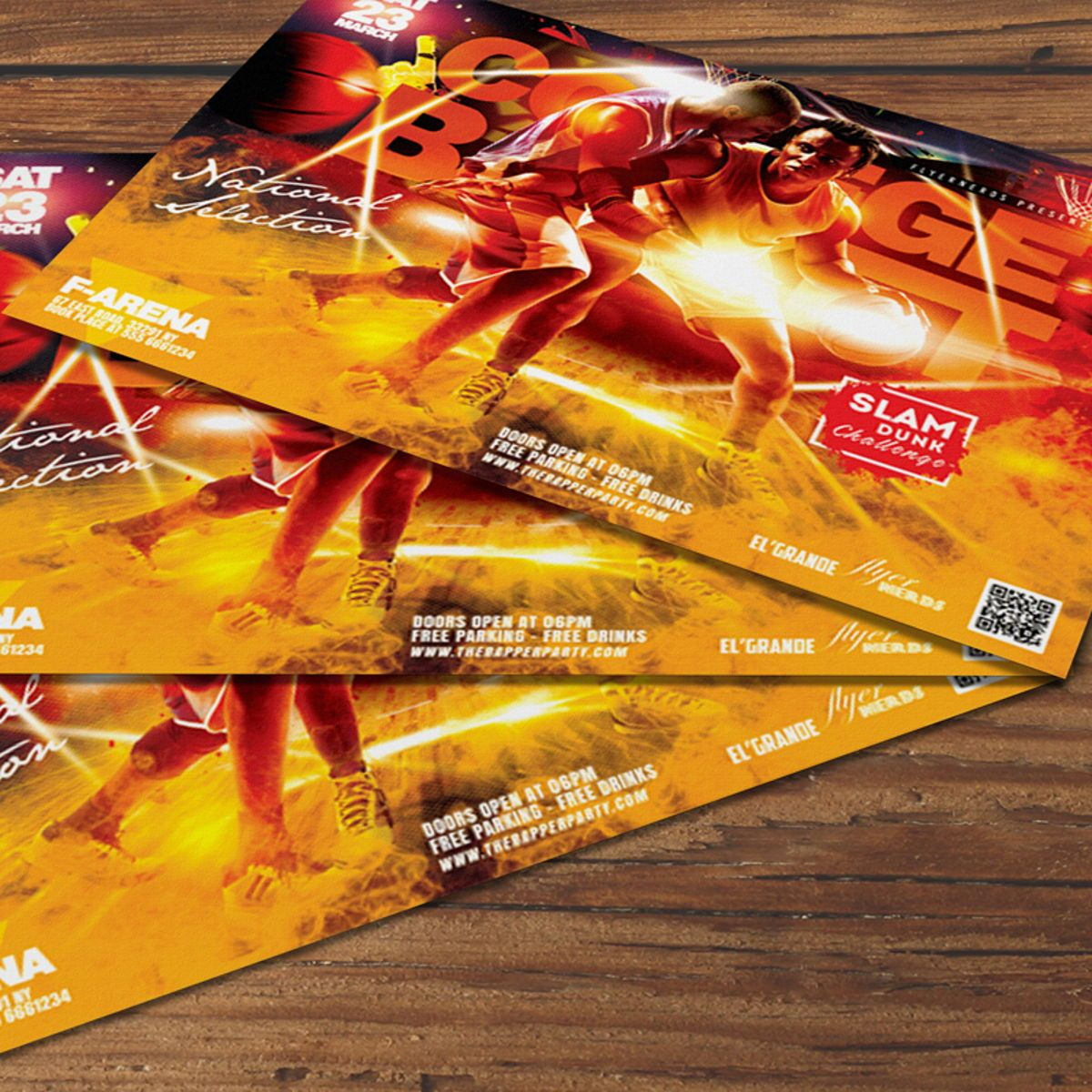 Basketball Flyer Template, Slide 2, 08526, Sports — PoweredTemplate.com