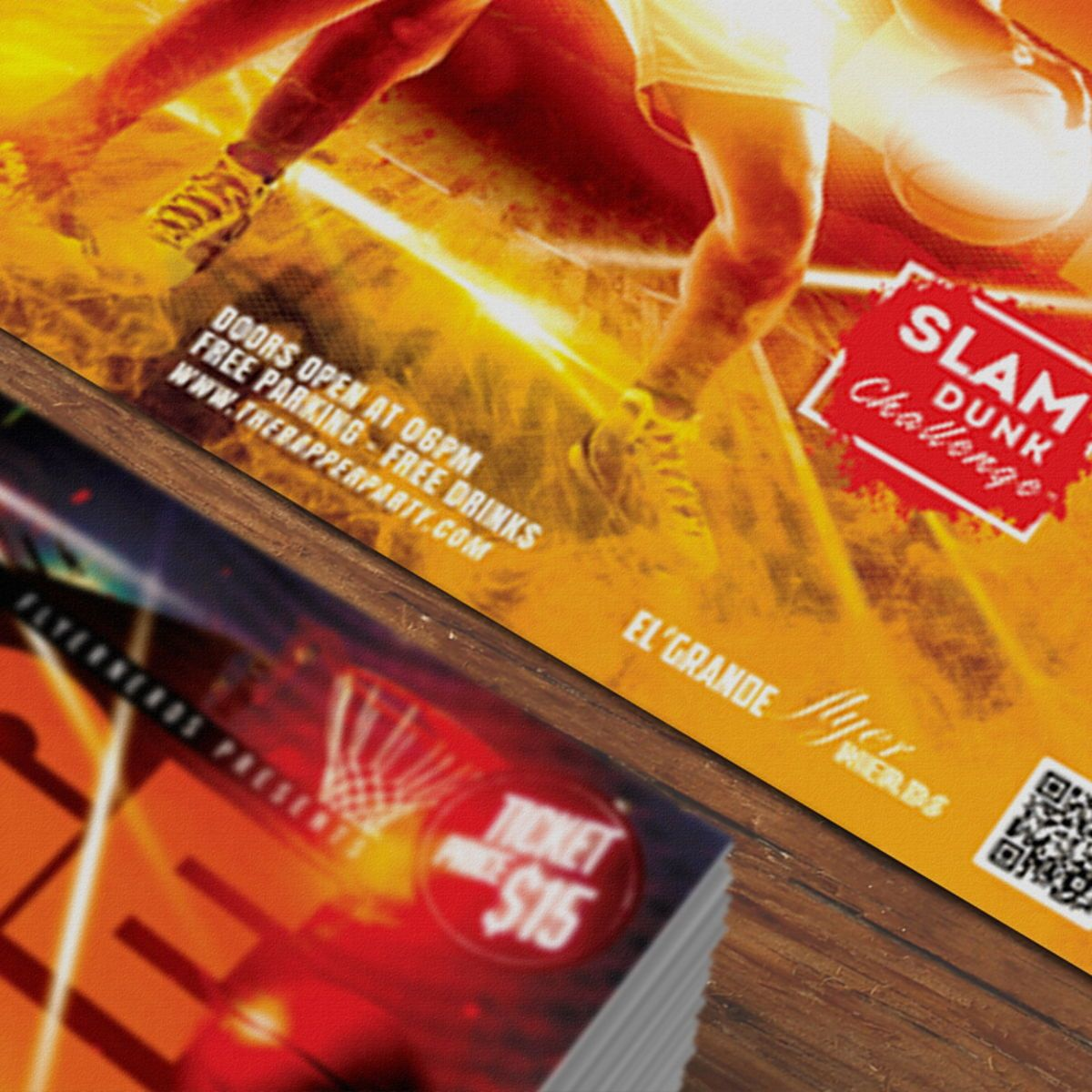 Basketball Flyer Template, Slide 3, 08526, Sports — PoweredTemplate.com