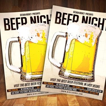 Art & Entertainment: Beer Night Party Flyer #08527