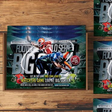 Sports: Football Flyer Template #08529