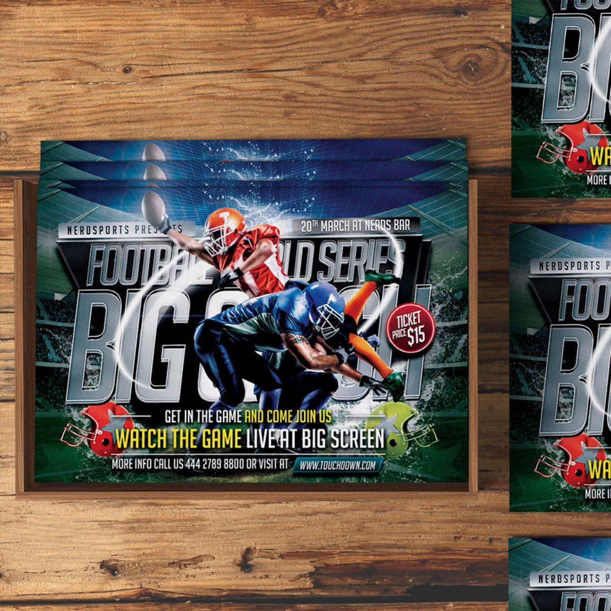 Football Flyer Template, 08529, Sports — PoweredTemplate.com