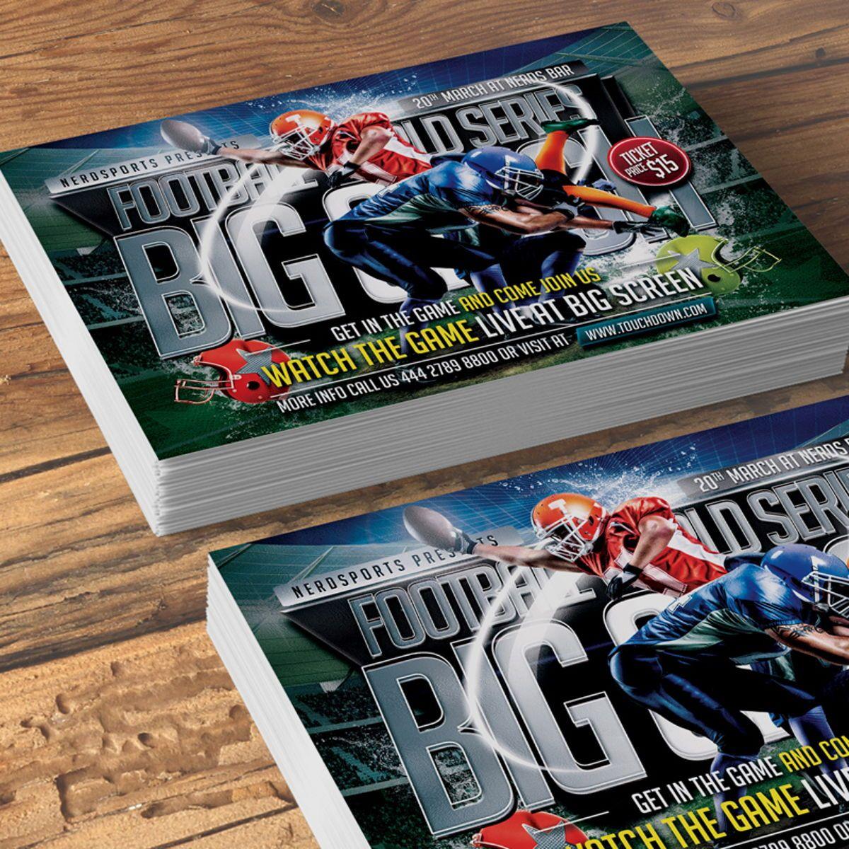 Football Flyer Template, Slide 2, 08529, Sports — PoweredTemplate.com
