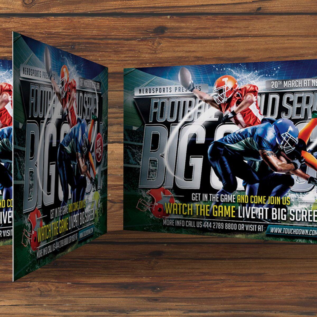 Football Flyer Template, Slide 3, 08529, Sports — PoweredTemplate.com