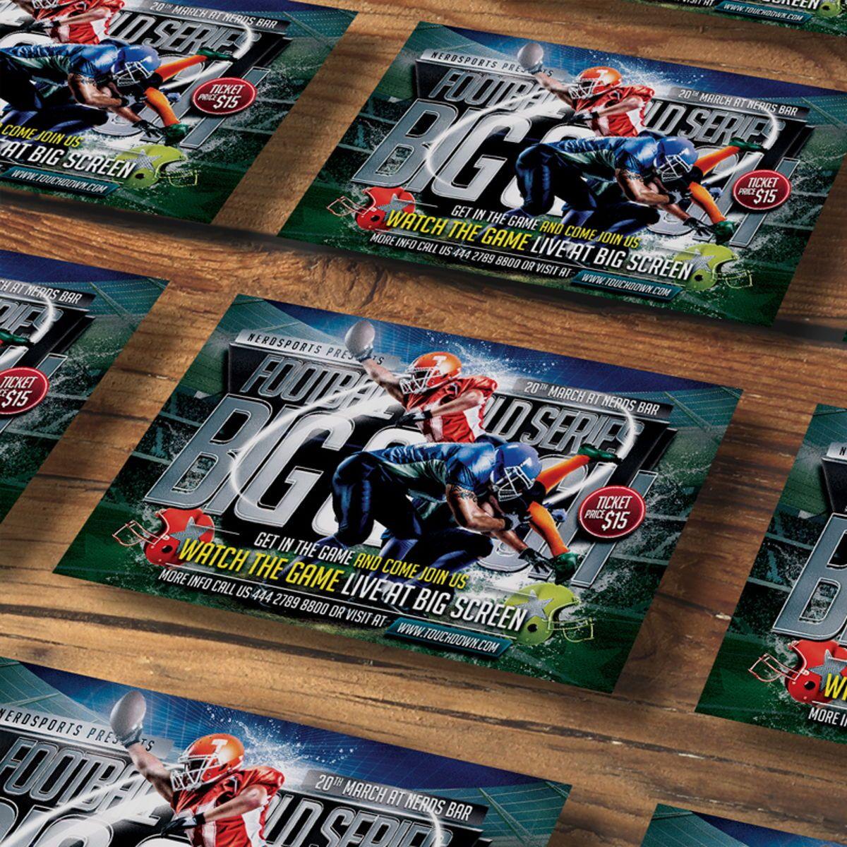 Football Flyer Template, Slide 4, 08529, Sports — PoweredTemplate.com