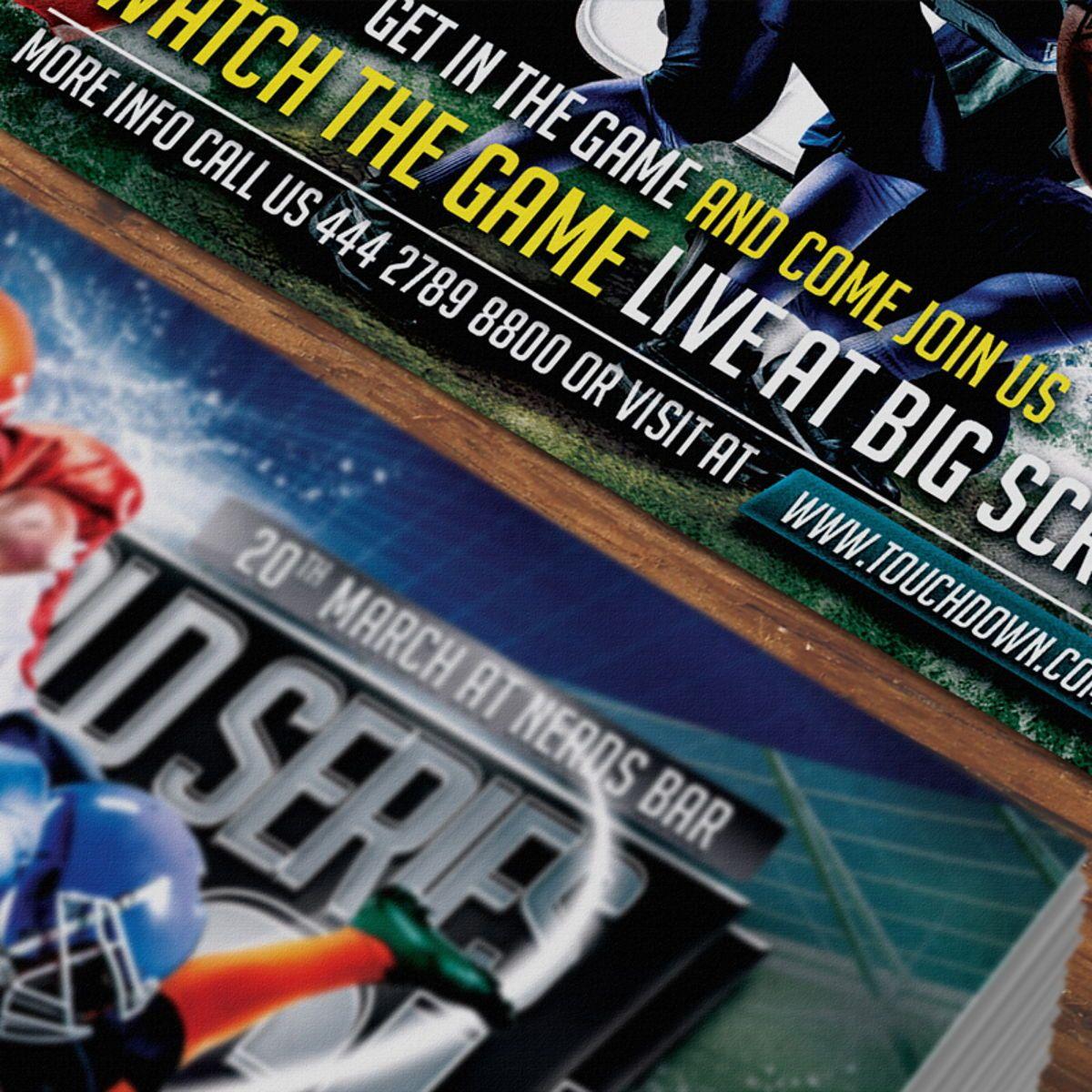 Football Flyer Template, Slide 6, 08529, Sports — PoweredTemplate.com