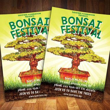 Art & Entertainment: Bonsai Festival Flyer Template #08530