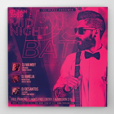 Art & Entertainment: DJ Battle Party Flyer Template #08532