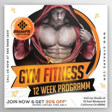 Sports: Gym Fitness Flyer Template #08538
