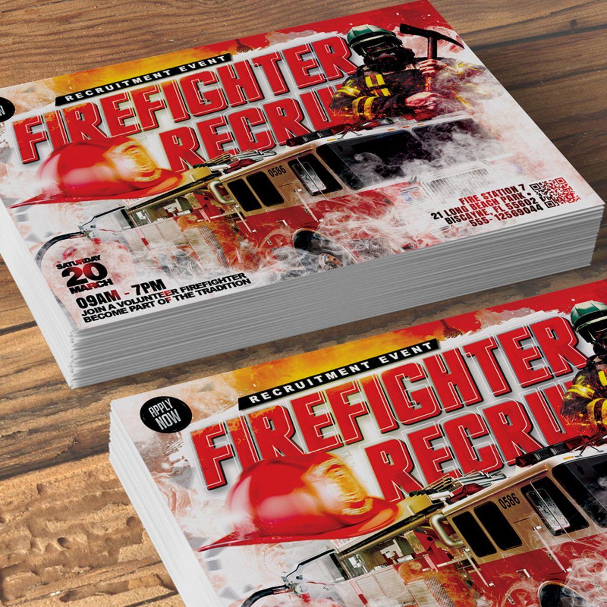 Firefighter Requitment Flyer, Slide 2, 08539, General — PoweredTemplate.com