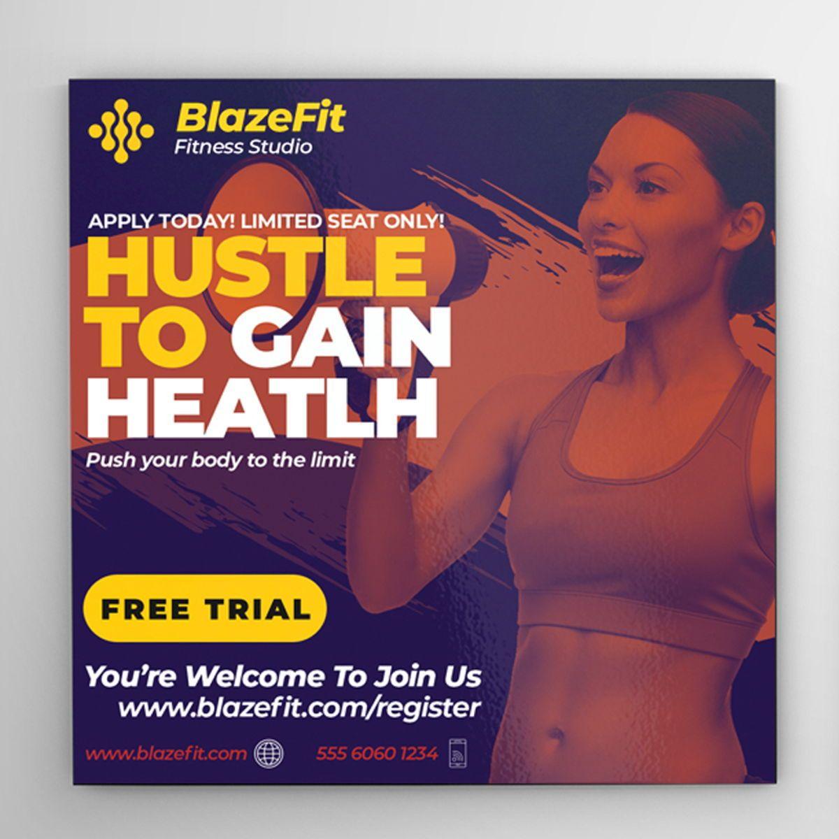 Fitness Flyer Template, 08540, Sports — PoweredTemplate.com