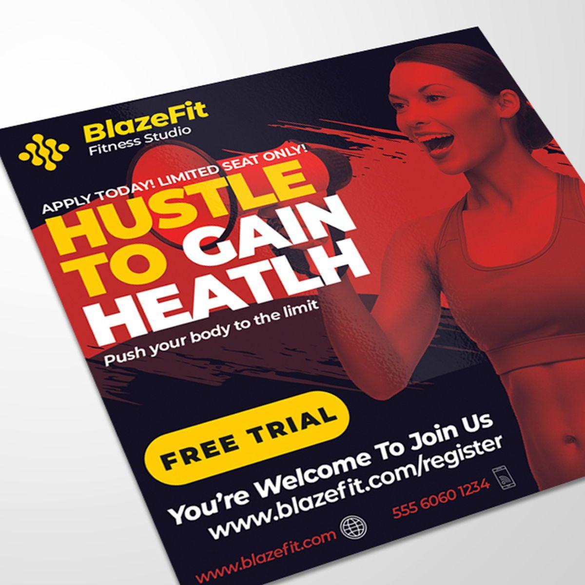 Fitness Flyer Template, Slide 2, 08540, Sports — PoweredTemplate.com