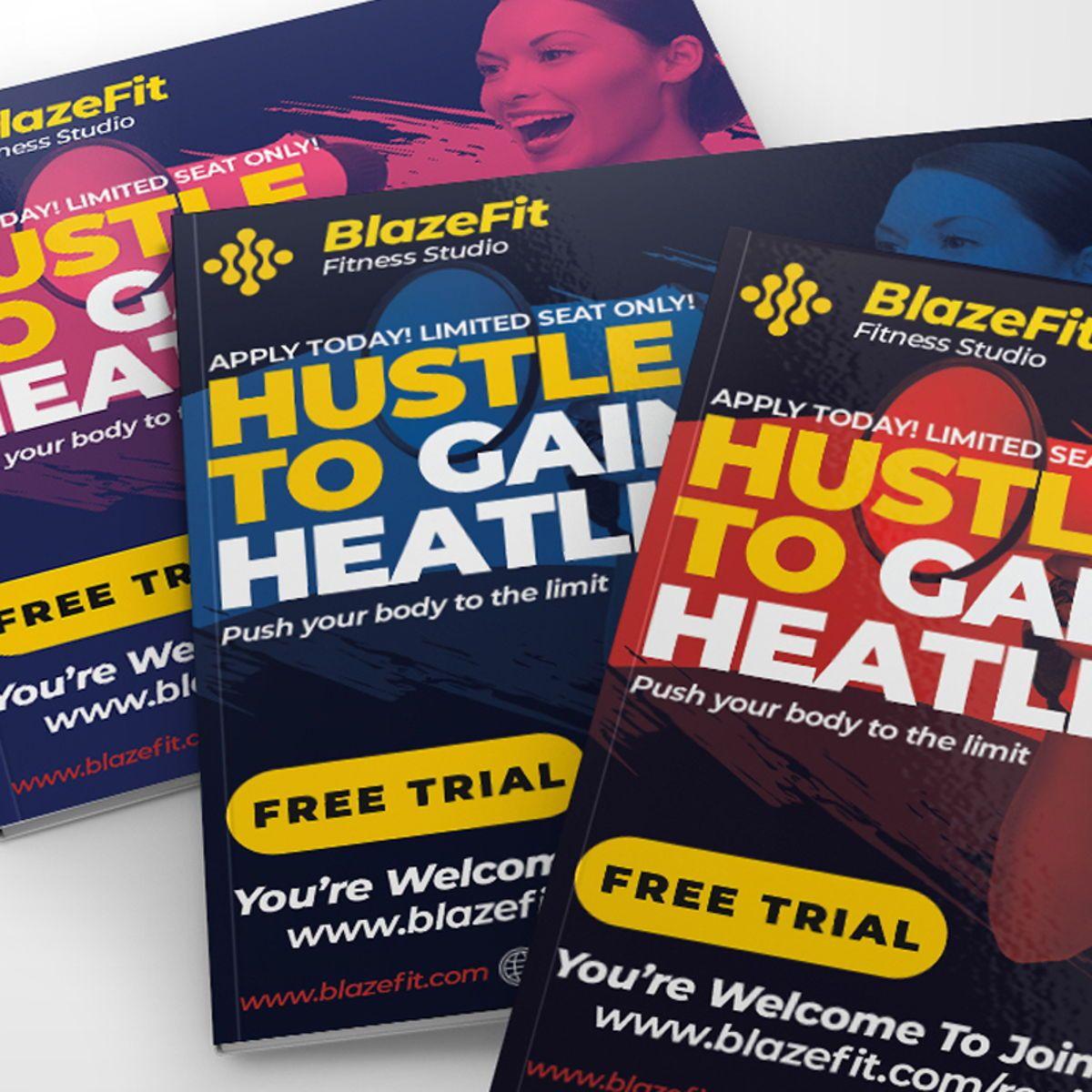 Fitness Flyer Template, Slide 3, 08540, Sports — PoweredTemplate.com