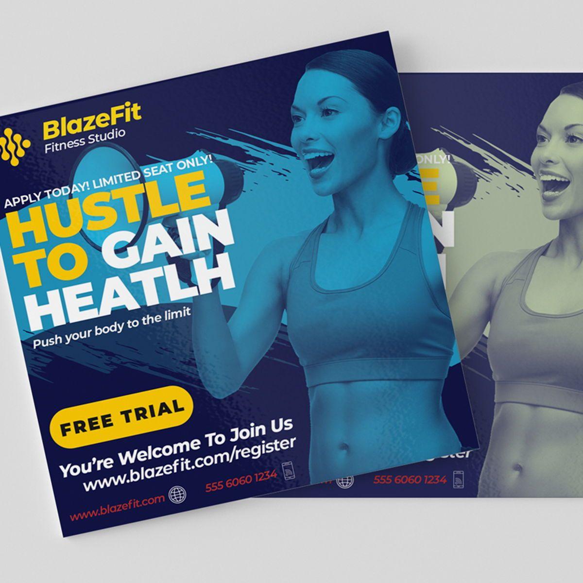 Fitness Flyer Template, Slide 4, 08540, Sports — PoweredTemplate.com