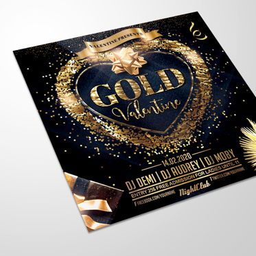 Art & Entertainment: Gold Valentine Flyer #08542
