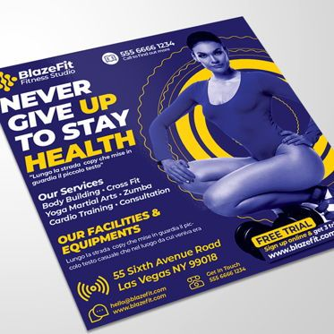 Business: Fitness Sports Flyer #08545