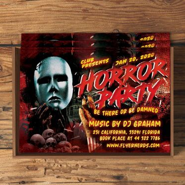 Art & Entertainment: Horror Party Flyer Template #08548
