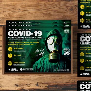 Business: Fight For Corona Flyer Template #08549