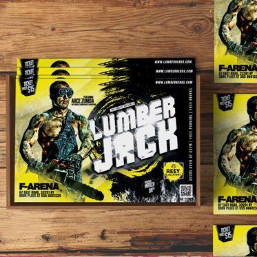 Art & Entertainment: LumberJack Party Flyer #08551