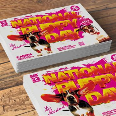 Holiday/Special Occasion: National Puppy Day Flyer #08553