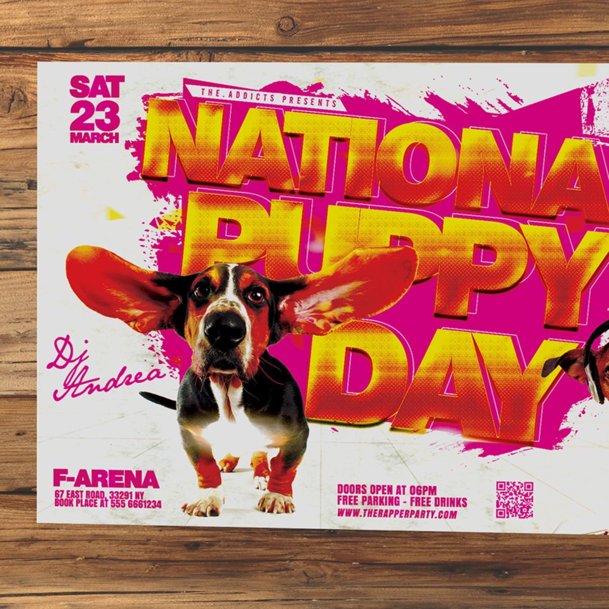 National Puppy Day Flyer, Slide 2, 08553, Holiday/Special Occasion — PoweredTemplate.com