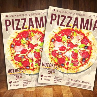Food & Beverage: Pizzaria Fast Food Flyer Template #08556