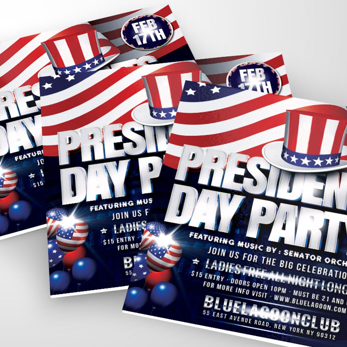 Presidents Day Flyer Template, Slide 2, 08558, Holiday/Special Occasion — PoweredTemplate.com