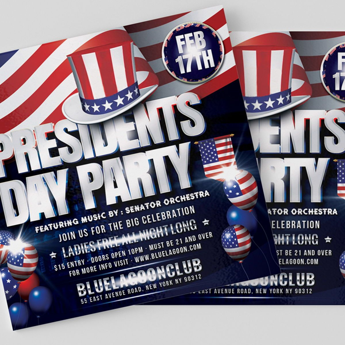 Presidents Day Flyer Template, Slide 3, 08558, Holiday/Special Occasion — PoweredTemplate.com