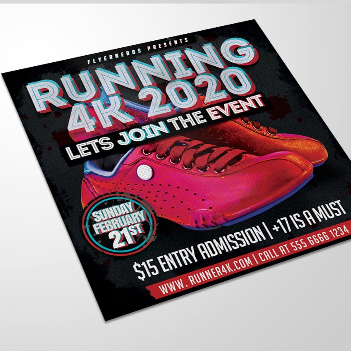 Runner Sports Flyer Template, 08559, Sports — PoweredTemplate.com