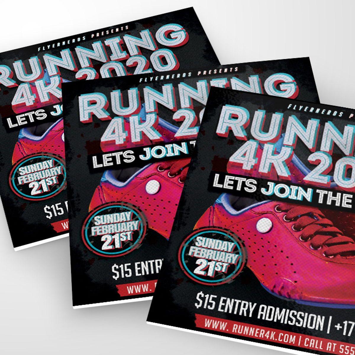 Runner Sports Flyer Template, Slide 2, 08559, Sports — PoweredTemplate.com