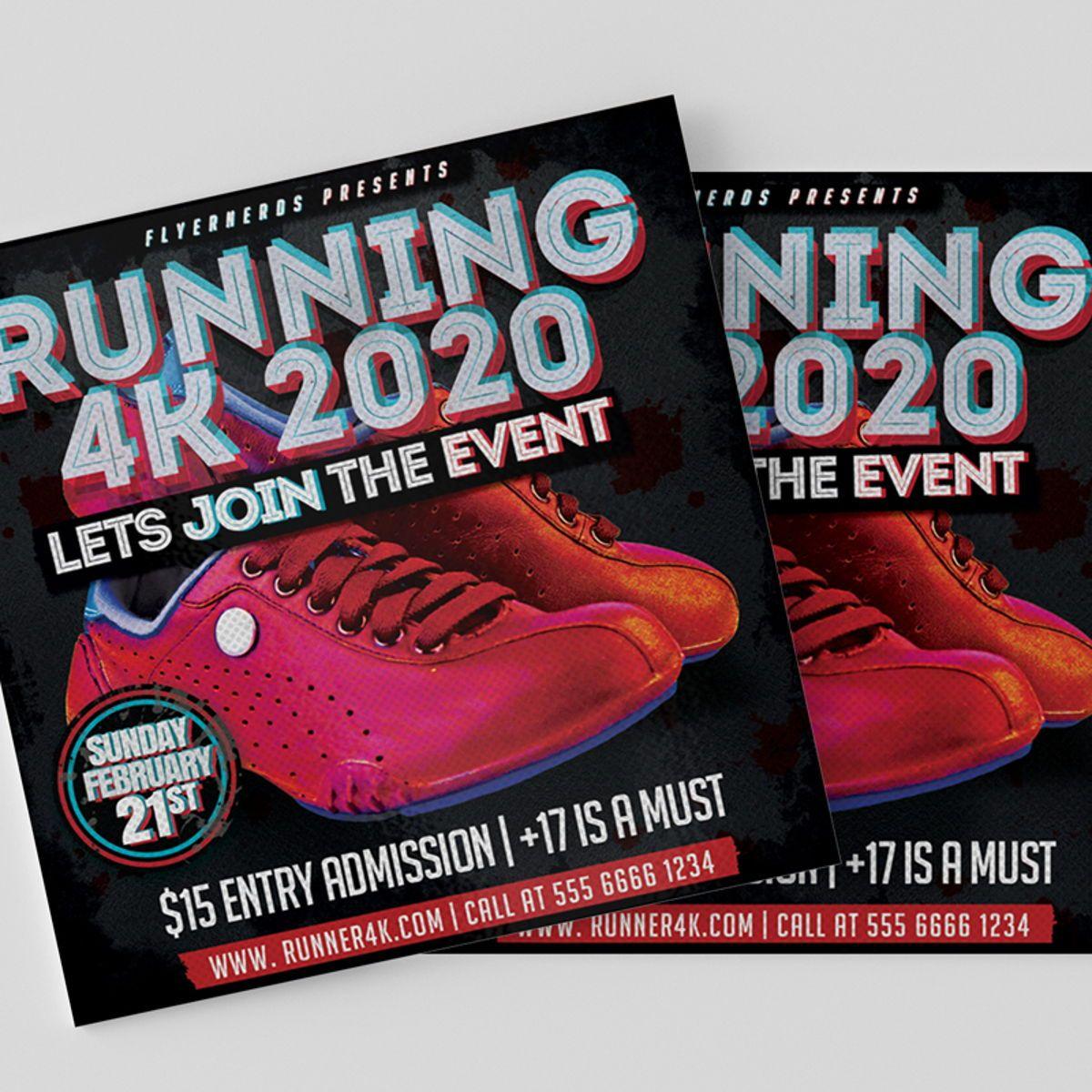Runner Sports Flyer Template, Slide 3, 08559, Sports — PoweredTemplate.com