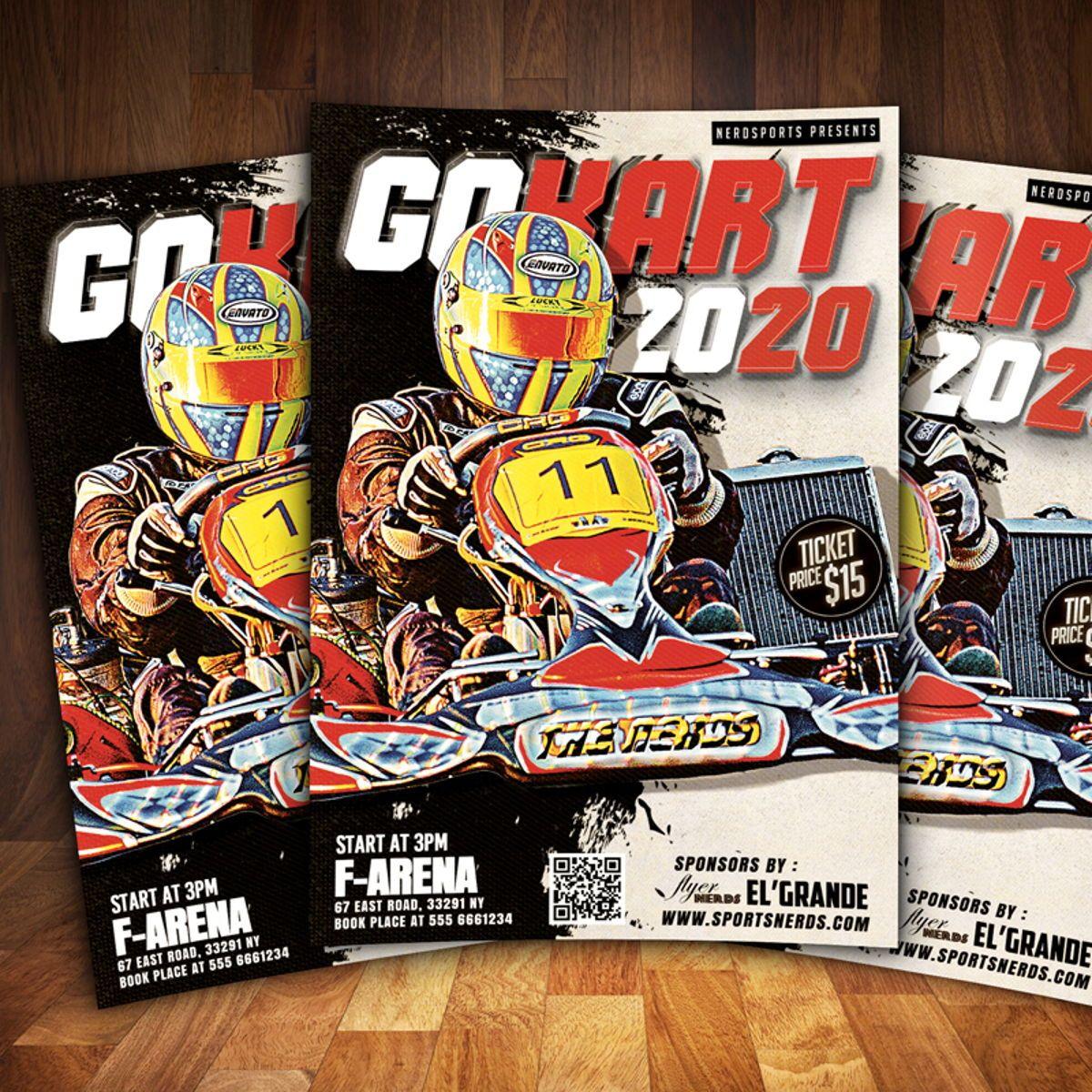 Gokart Sports Flyer Template, Slide 2, 08561, Sports — PoweredTemplate.com