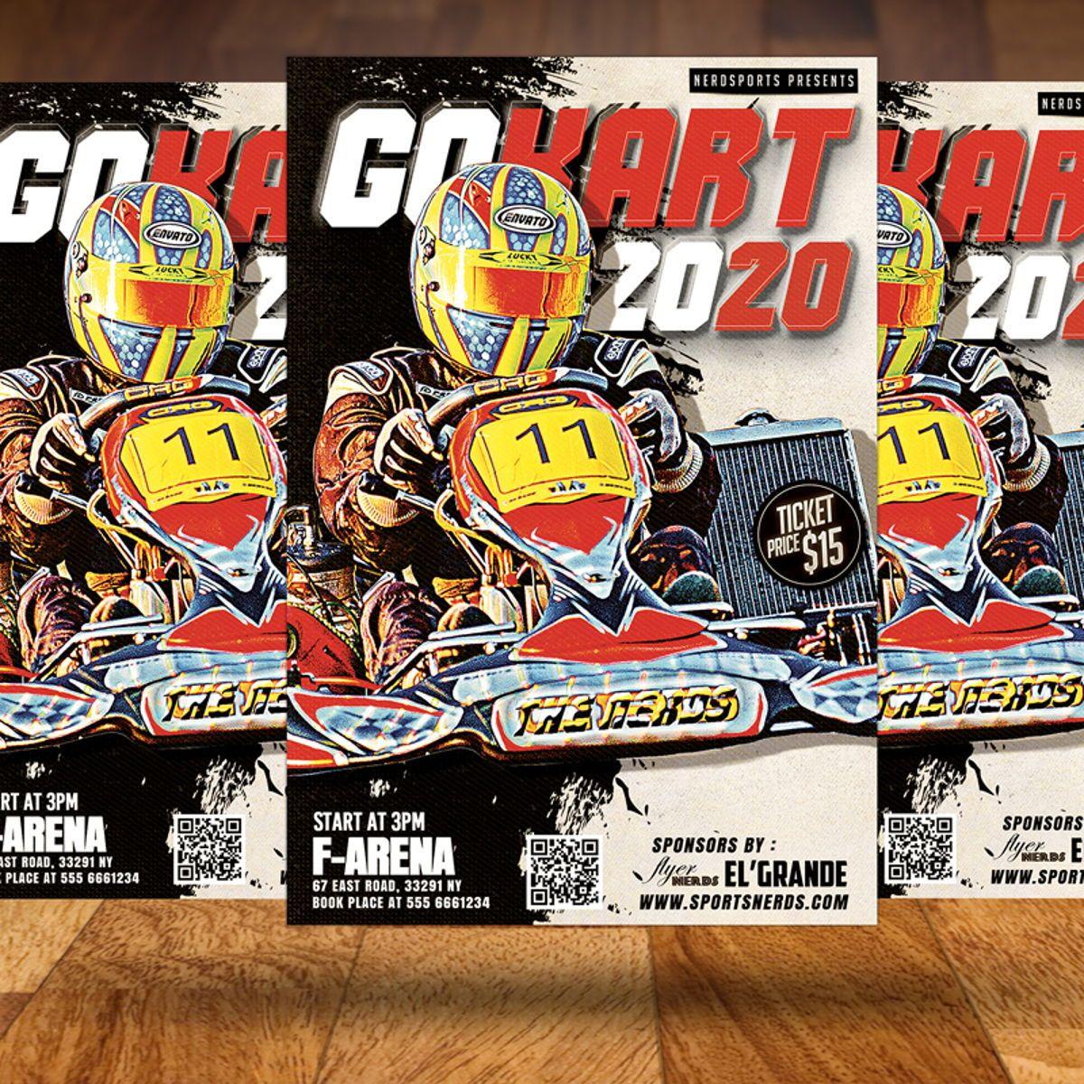Gokart Sports Flyer Template, Slide 3, 08561, Sports — PoweredTemplate.com