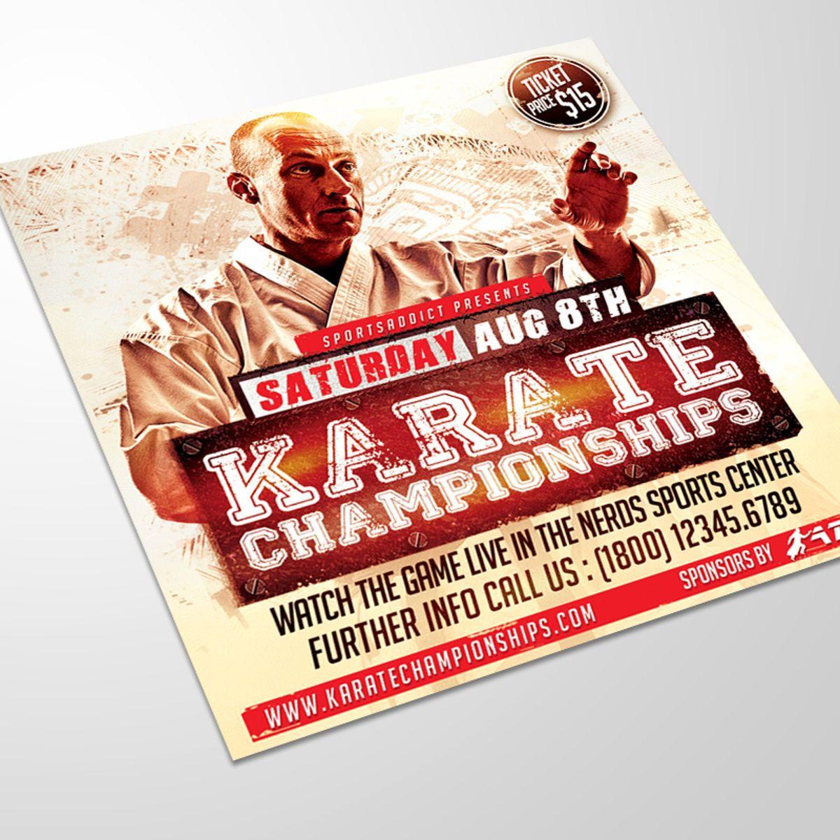 Karate Championships Sports Flyer Template, 08563, Sports — PoweredTemplate.com