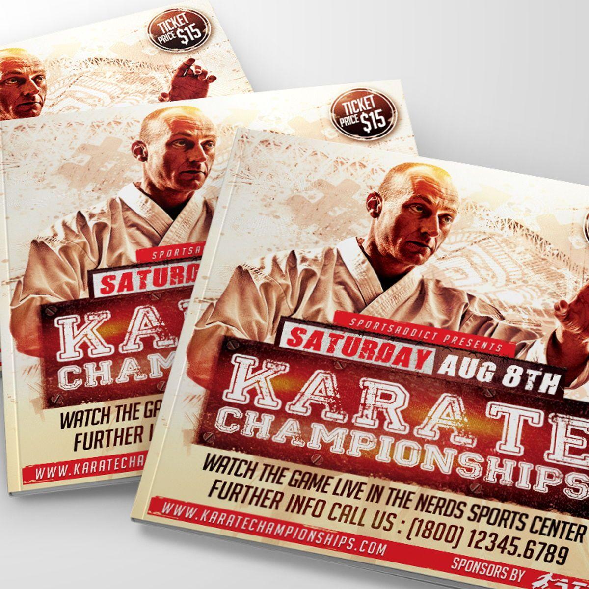 Karate Championships Sports Flyer Template, Slide 2, 08563, Sports — PoweredTemplate.com