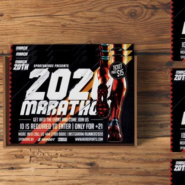 Sports: Marathon Sports Flyer Template #08564