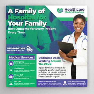 Medical: Medical Center Flyer #08567